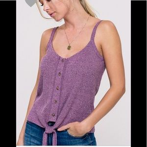 Other - Ribbed buttoned down tie top ( 2 LEFT )